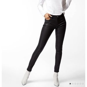 J brand super skinny coated black jeans